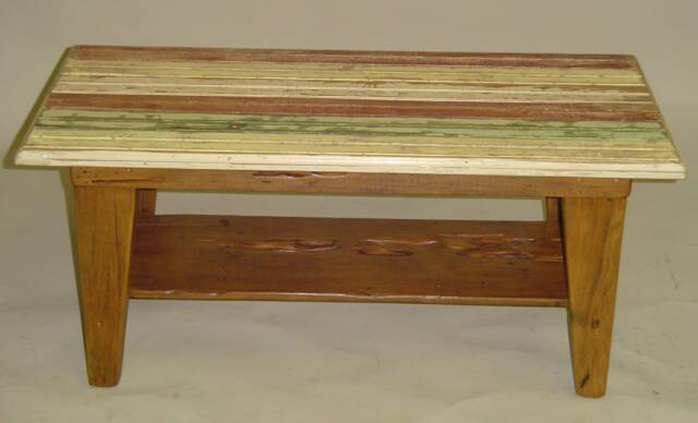 Beadboard Top Coffee Table